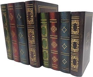 E-isata False Book Box Decorative Ornaments Wooden Jewelry Keepsake Boxes for Home Decorations Secret Hidden Storing Stora...