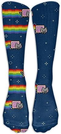 Unisex Unicorn Fuck You Rainbow With Stars Compression Socks-Graduated Compression Knee High Legging Socks