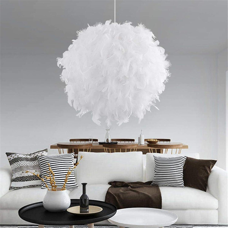 WOF 40 CM Moderne Pendelleuchte Romantische Kugelform PVC Feder Hngelampe E27 220 V Für Schlafzimmer Esszimmer Wohnzimmer