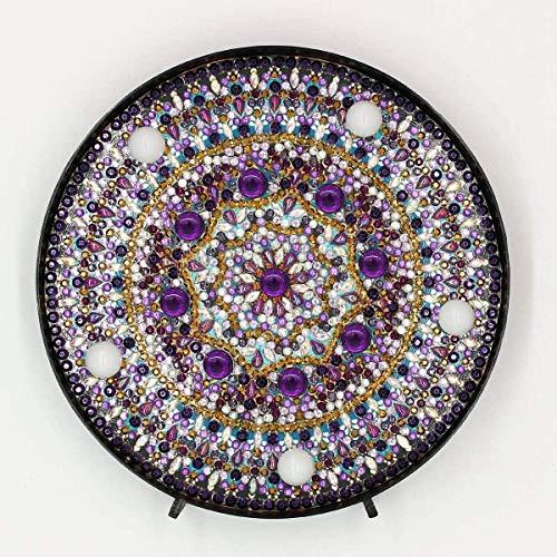 Yobeyi DIY lámpara de pintura de diamante con luces LED Full Drill Crystal Drawing Kit de luz de noche para decoración del hogar o regalos de Navidad 6.0x6.0 pulgadas