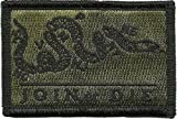 Join Or Die Tactical Patch - Olive Drab by Gadsden and Culpeper