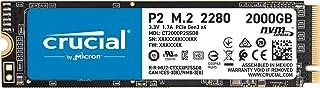 Crucial P2 CT2000P2SSD8 SSD Interno, 2TB, fino a 2400 MB/s, 3D NAND, NVMe, PCIe, M.2