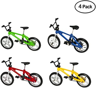 Finduat Miniature Metal Finger Mountain Bike Toy, Finger Bicycle Mountain Bike Cool Boy Toy Creative Game Gift for Kid (4 Pack)