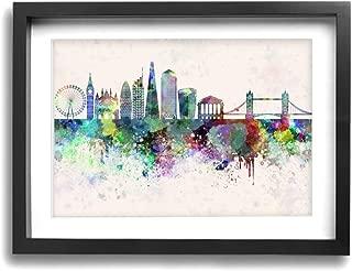 LP ART Watercolor UK England London Skyline Big Ben Photo Print Art Poster Modern Home Decor Wall Art for Home or Office Decorations 12