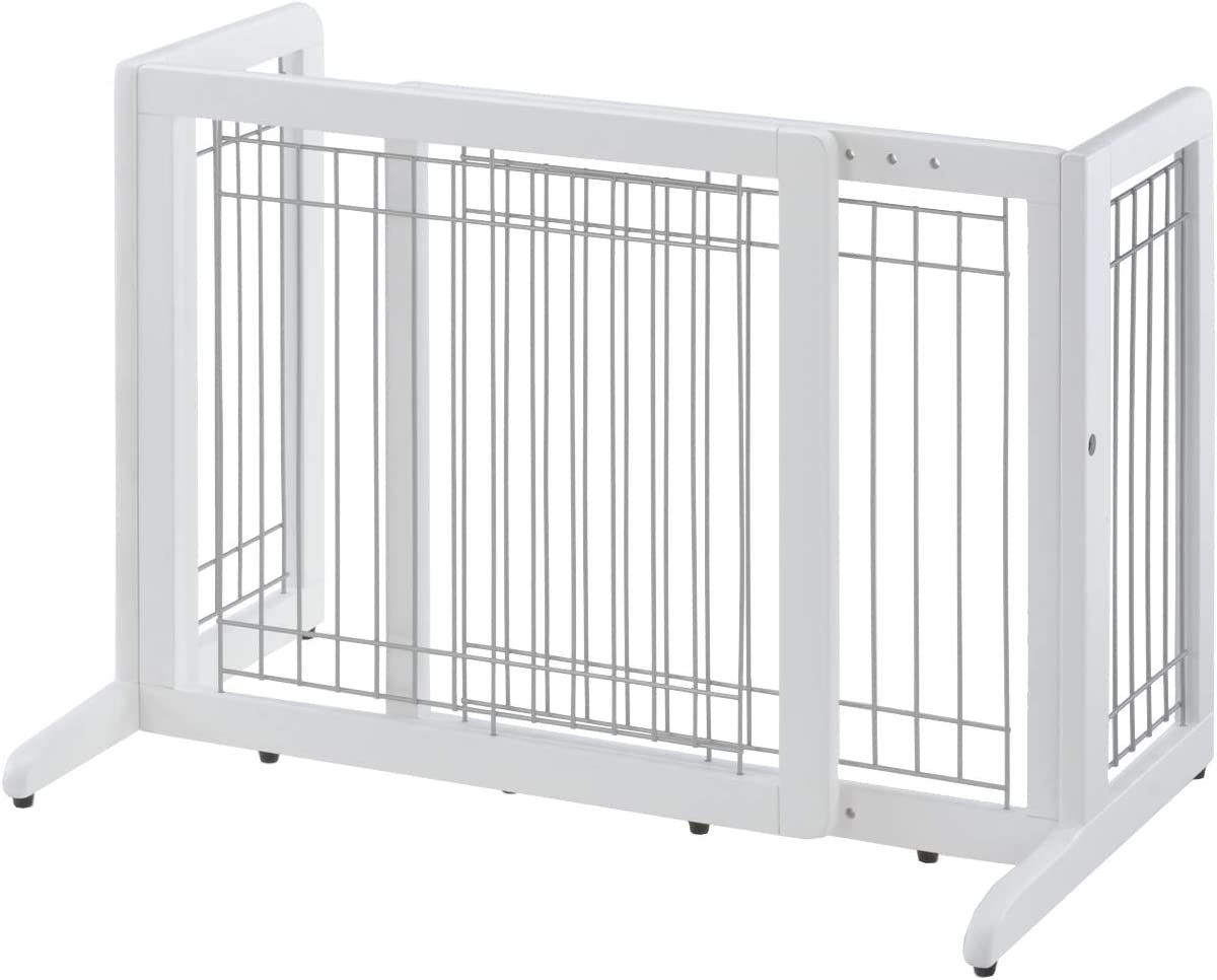 Manufacturer regenerated product Richell Wood Seattle Mall Freestanding Pet Gate