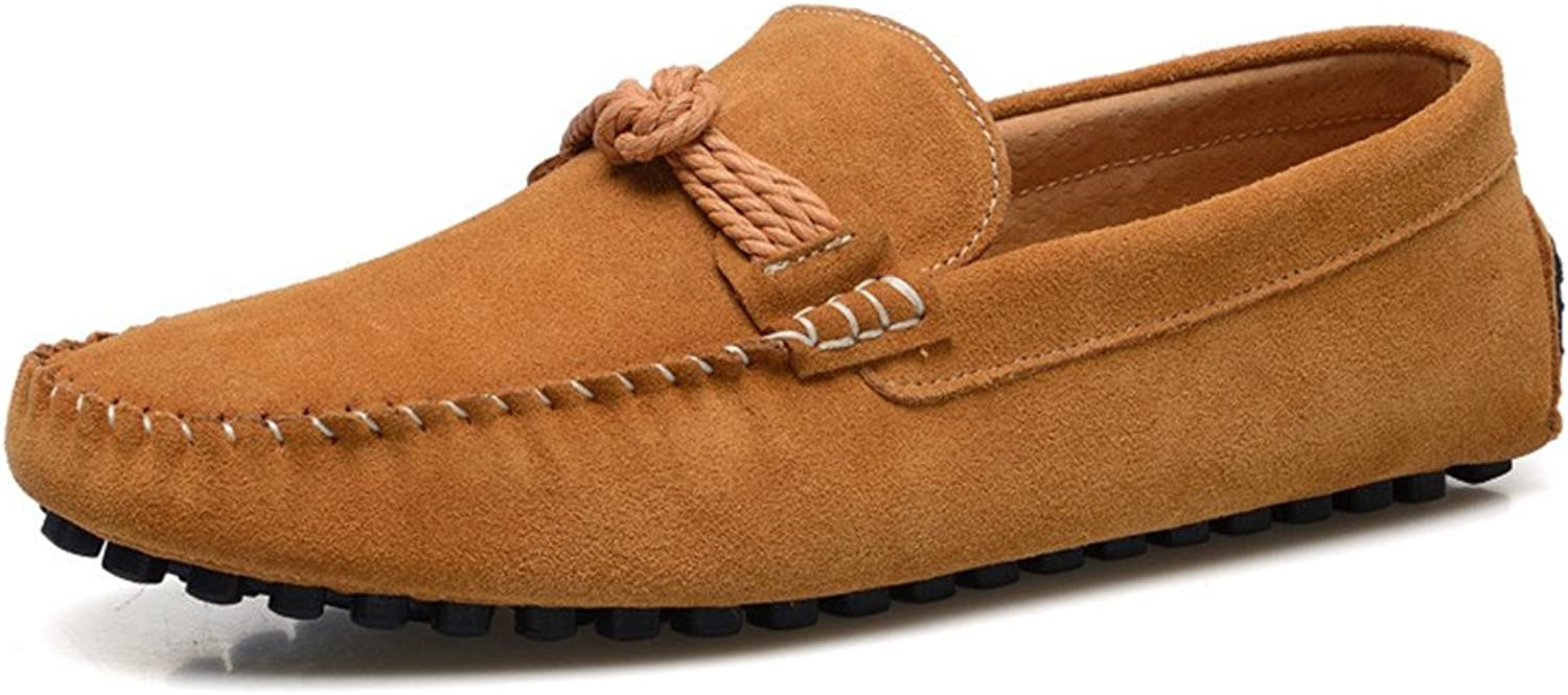 Z.L.F Men's Oxford Driving Penny Moccasins Hemp Rope Decor Genuine Leather Slip-on Loafers Formal shoes