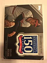 2019 Topps Update Series 150th Anniversary Commemorative Patch AMP-NRY Nolan Ryan California Angels Official MLB Baseball Trading Card BLASTER EXCLUSIVE