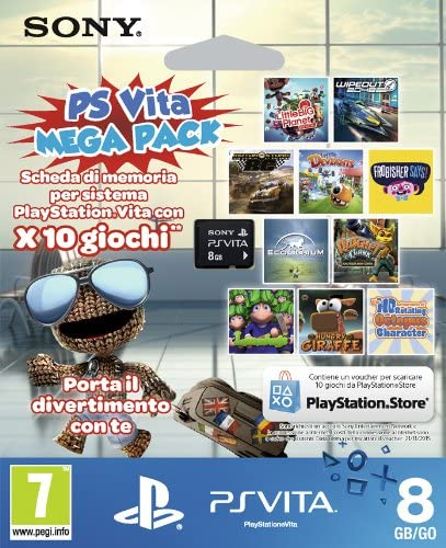 8GB MC PS Vita + Mega Pack Voucher
