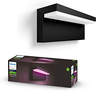 Philips Hue Nyro White & Colour Ambiance LED Smart Outdoor Wall Light, Black, Compatible with Alexa, Google Assistant and ...