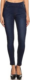 Women's High Waisted Stretchy Pull-On Skinny Denim Jegging & Bermuda Shorts