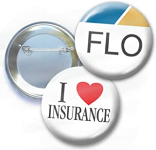 2-Pack Buttons - I Love Insurance - Red Heart and Nametag - 2.25 Inch Pin Design 6554