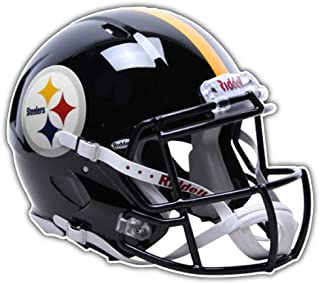 Pittsburgh Steelers NFL Dark Helmet Car Bumper Sticker Decal 5'' X 4''
