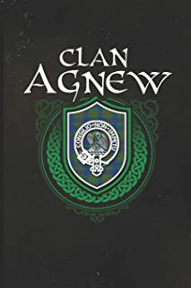 Clan Agnew: Scottish Tartan Family Crest - Blank Lined Journal with Soft Matte Cover | Notebook, Diary, Composition Notebook