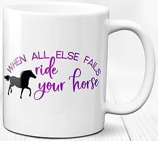 Taza de café con tema de caballo, regalo para amantes de los caballos, taza de cerámica de 330 ml personalizada