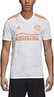 adidas Atlanta United FC Away Jersey - Men's Soccer XS White/Light Grey Solid/Orange