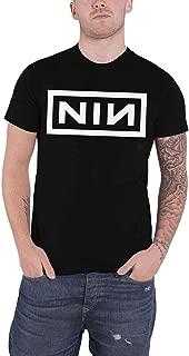 T Shirt Classic White Nin Band Logo Official Mens Black