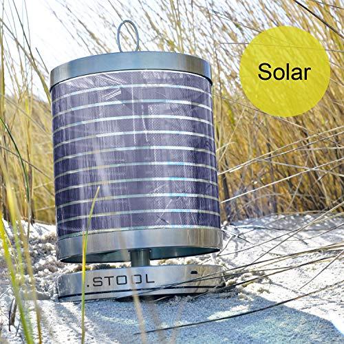 Solarleuchte Edelstahl | Garten Tischlampe LED | Steuerung per App | aktiver Klimaschutz