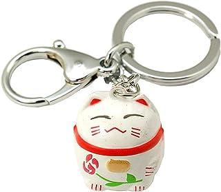 Miniblings Winkekatze Katze Glückskatze Schlüsselanhänger - Handmade Modeschmuck I Anhänger Schlüsselring Schlüsselband Ke...