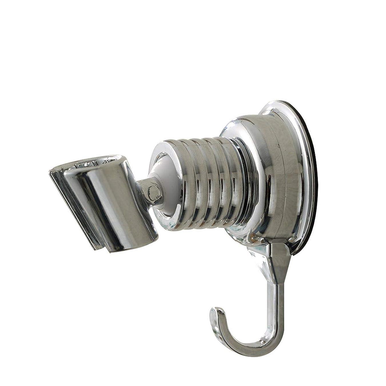 一貫した伝記親密なFelimoa シャワーフック 強力吸盤 シャワーヘッドホルダー 角度調節自在 タオルフック付き