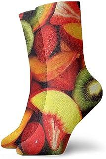 winterwang, Niños Niñas Calcetines divertidos divertidos de frutas y verduras frescas Calcetines de vestir de novedad linda