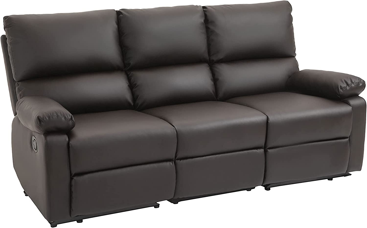 Max 72% OFF HOMCOM Dealing full price reduction Modern 3 Seater Sofa with Side 2 Manual Handle Recliners