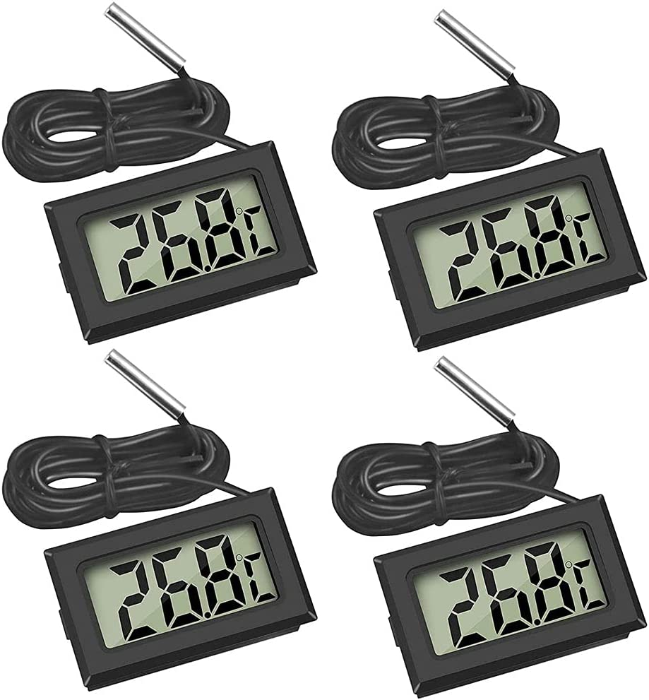 New item Digital LCD Thermometer Fish Sales for sale Tank Refrigerator Temperature Humid