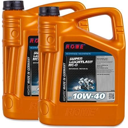 10 2x5 Liter Rowe Hightec Super Leichtlauf Hc O Sae 10w 40 Auto