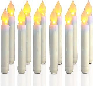 LEDMOMO LED キャンドルライト LEDキャンドル ロウソク 誕生日 結婚式 クリスマス インテリアライト 仏前ろうそく 電池式 12本セット
