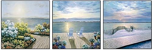 ganancia cero Cxmm Impresiones en en en Lienzo Pintura de Parojo Sala de Estar Pintura de Parojo sofá de Fondo Pintura de Parojo Restaurante Mural Mural Mediterráneo Paisaje Mural Pintura Triple (Tamaño  70x70cm)  en venta en línea