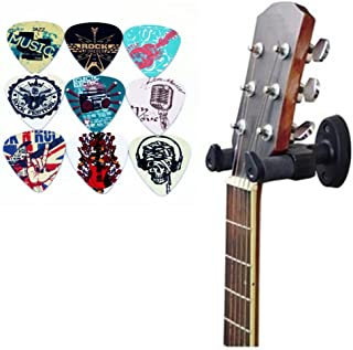 Wood Guitar Stand Home Studio Guitar Hanger For Acoustic Classical Electric Bass Ukulele Guitar Wall Hanger-3 Pack ZIONOR Guitar Wall Mount