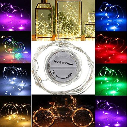MASUNN 2m LED Guirlande imperméable pétales lumière Partie Lampe Noël Arbre Mariage Decor-Chaud Blanc