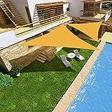 Vela de Sombra Triangular Espesar con Capa Impermeable Plateada Borde Resistente a Los Rayos UV y Al Desgarro para Jardín, Patio, Exteriores,Army Green,4x4x4 Meters