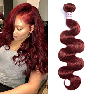 Peruvian Remy Hair Body Wave Weaves Red Color #33 Human Hair Silky Body Wave Weft Extensions one Bundle Wholesale Price Hair Bundles(33# 22inch)