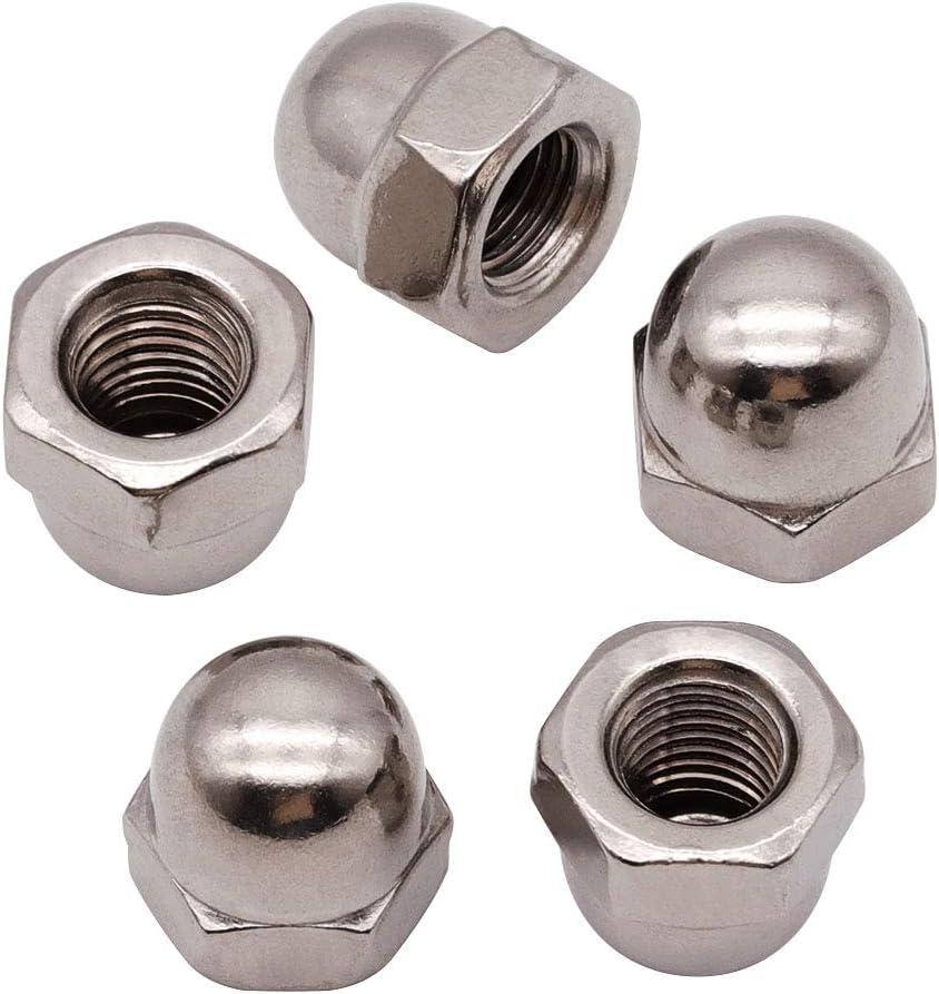Milwaukee Mall M8-1.25mm 20 PCS Acorn Hex Cap Locknuts Nuts mart St 304 Stainless