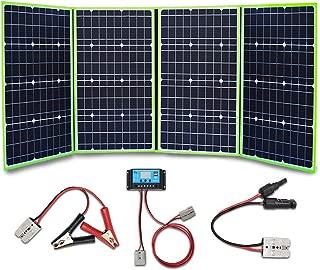 XINPUGUANG 200w 4x 50 vatios 12v Panel solar Monocristalino Cargador solar plegable 20A Controlador Cable fotovoltaico MC4 Aligator para autocaravana Tienda de campaña 12v Carga de batería