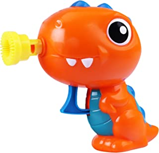 iPlay, iLearn Dinosaur Bubble Machine Gun Toy, Bubble Shooter and Blower Set, Development Toys in Outdoor, Park, Party, Birthday Gifts for Ages 2, 3, 4, 5 Year Olds Kids, Toddlers, Boy, Girls
