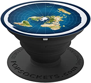Flat Earth Map and Model - PopSockets Grip and Stand for Phones and Tablets