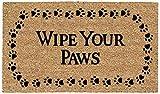 DeCoir 18' x 30' 'Wipe Your Paws' Coir Doormat