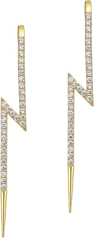 KINIVA Ear Wrap Crawler Hook Earrings for Women Girls Gold Ear Cuffs Hypoallergenic Piercing Rhinestone Cartilage Pierced Earrings Set