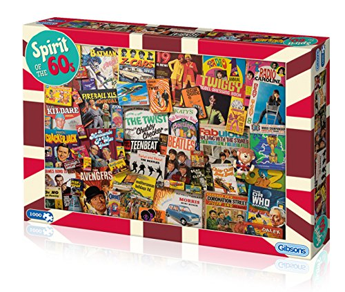 Spirit of the 60s 1000 Piece Jigsaw Puzzle | Sustainable Puzzle for Adults | Premium 100% Recycled Board | Great Gift for Adults | Gibsons Games steampunk buy now online