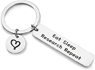 Eat Sleep Research Repeat Keychain Researcher Gift Scientist Keychain Gift for Doctorate