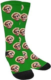 Custom Photo Pet Face Socks, Personalized Colorful Crew Socks for Men Women