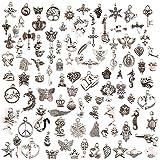 jeans dream 100 pezzi misti placcato in argento fai da te ciondolo bracciale collana orecchini gioielli creazione di gioielli