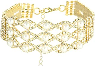 SXXDXL Fashion New Hot Items Decorated with Diamond Necklace Pearl Claw Chain Necklace Female