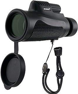 SVBONY SV11 Monocular Telescope Compact IPX7 Waterproof Monocular Telescope 8x32mm for Hunting Bird Watching Shooting Hiki...