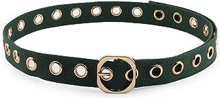 """Hoanan Canvas Grommet Belt for Women, 1.25"""" Punk Casual Dress Cotton Waist Belt"""