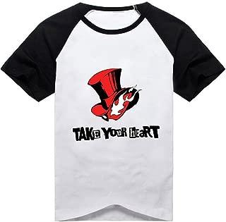 Poetic Walk Persona 5 Men's Joker Mask Cosplay Costume Tshirt Tee