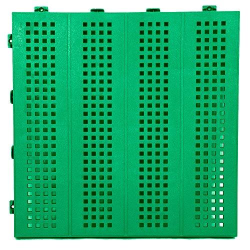 Piastrella mattonella in Plastica da Esterno e Giardino 40x40 verde forata