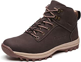 [LIANNAO] アウトドア スエード ハイシューズ トレッキングシューズ メンズ ハイカット 軽量 ハイキングシューズ 厚い底 防滑 登山靴 ハイシューズ 耐摩耗性 ウォーキングシューズ