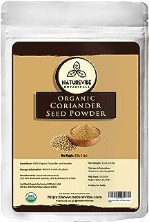 Sponsored Ad - Naturevibe Botanicals USDA Organic Coriander Seed Powder - 1lb (16 Ounce) - Coriandrum sativum | Raw, Glute...
